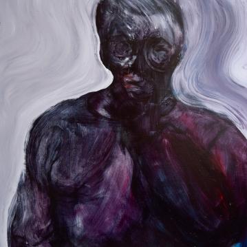 Human 2018. Öljy mdf-levylle / Oil on mdf-board, 64 cm x 61 cm.