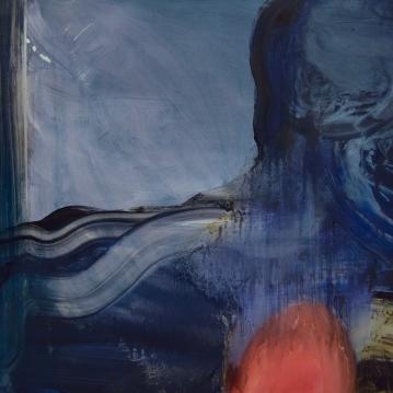 Abstract Landscapes II, 2018. Öljy alumiinille / Oil on aluminium, 64 cm x 101 cm.