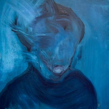 Human III, 2018. Öljy mdf-levylle / Oil on mdf-board, 61 cm x 60,5 cm.