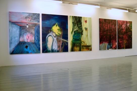 Unheimlich maalaussarja / Unheimlich painting series, 2019. Öljy kankaalle / Oil on canvas, 169 cm x 120 cm. / kpl. / each.