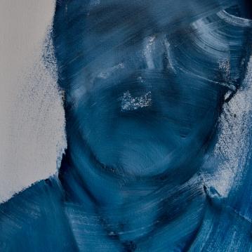 Nimetön / Nameless, 2019. Öljy kankaalle / oil on canvas, 44 cm x 31,5 cm.