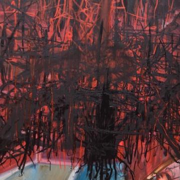 Oilbar Armageddon I, 2019. Öljy kankaalle / Oil on canvas, 169 cm x 120 cm.