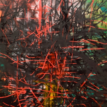 Oilbar Armageddon II, 2019. Öljy kankaalle / Oil on canvas, 169 cm x 120 cm.