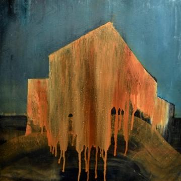 Tutkielma talosta II / Study of the House II, 2018. Öljy vanerille / Oil on plywood, 50 cm x 50 cm.