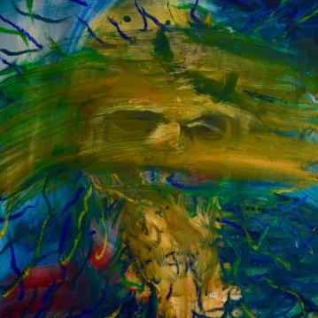 Nimetön / Nameless, 2019. Öljy kankaalle / Oil on canvas, 80 cm x 60 cm.